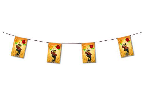 Guirnaldas de Bandera de Bailaora Flamenca