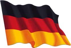 Autocollant du drapeau allemand
