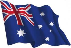 Autocollant du drapeau australien