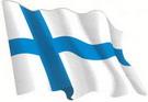 Autocollant du drapeau finlandais