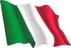 Autocollant du drapeau italien