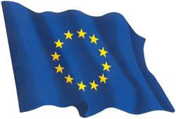 Autocollant du drapeau de l'Union Européenne
