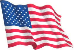 Autocollant du drapeau américain