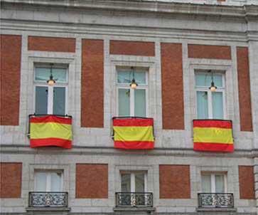 Drapeau d'Espagne par mètres (40 cm. de large)