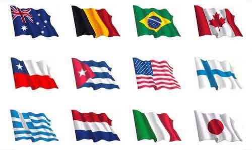 Drapeau espagnol et du monde entier - Autocollant