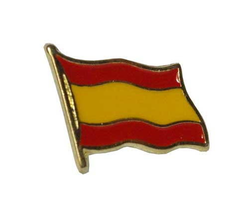 Pin with the Spanish flag