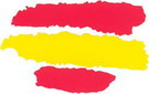 Spanish flag. Sticker 1.32€ #50854141244