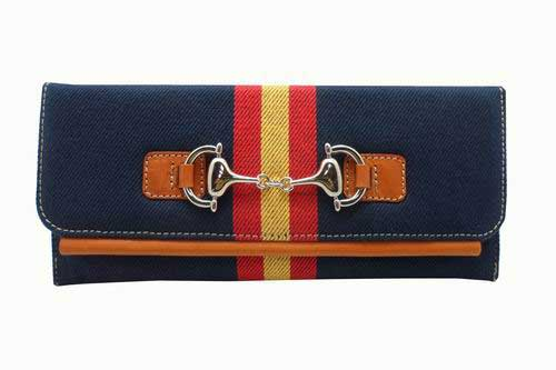 Purse in Blue Tarpaulin with Spanish Flag and Stirrup
