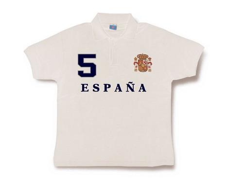 Polo España para Hombre. Blanco