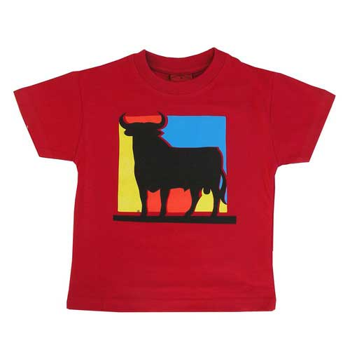 Osborne Bull T-shirt. Red square. Child