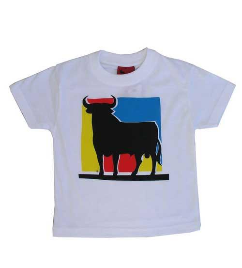 Osborne Bull T-shirt. White square. Child
