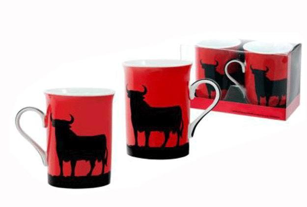 Set de 2 Mugs Fondo Rojo Toro Osborne en estuche