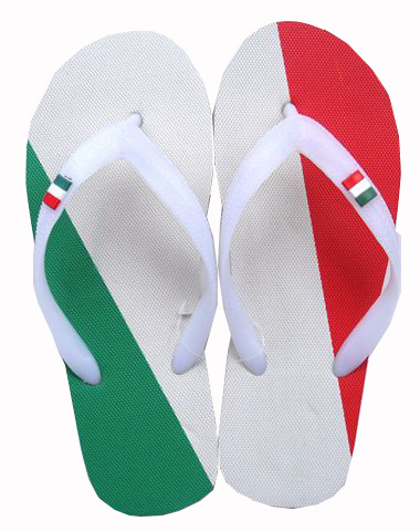 Italy flag slippers