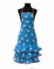 Turquoise Flamenco Apron with White Dots 15.00€ #504920008