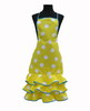 Yellow Flamenco Apron with White Dots