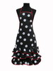 Black Flamenco Apron with White Dots 15.00€ #5049200009