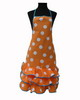 Orange Flamenco Apron with White Dots