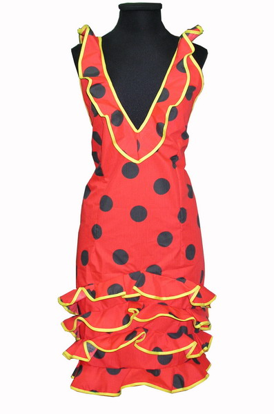 Flamenco Apron Canastera - Red
