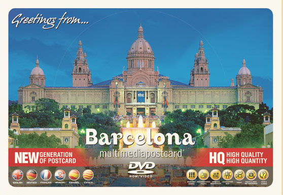 DVD Barcelona.Multimedia Postcard. Dvd