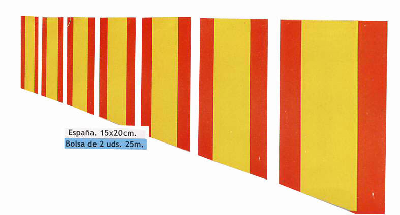 Spanish flag Garland in Paper