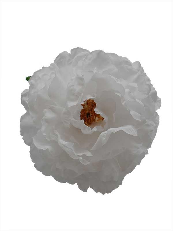 Flamenco Flower: White Peony. 16cm