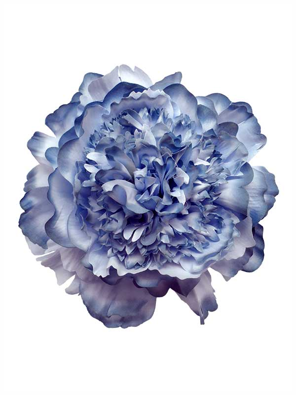 Flamenco Accessories for Hair: Peony in Blue Shades. 16cm