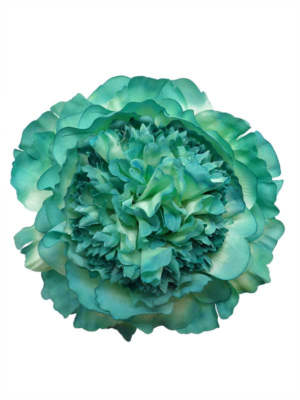 Flamenco Hair Accessories: Peony in Green Shades. 16cm