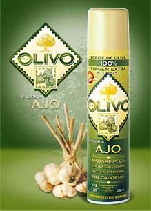 Huile d'Olive en Spray saveur ail
