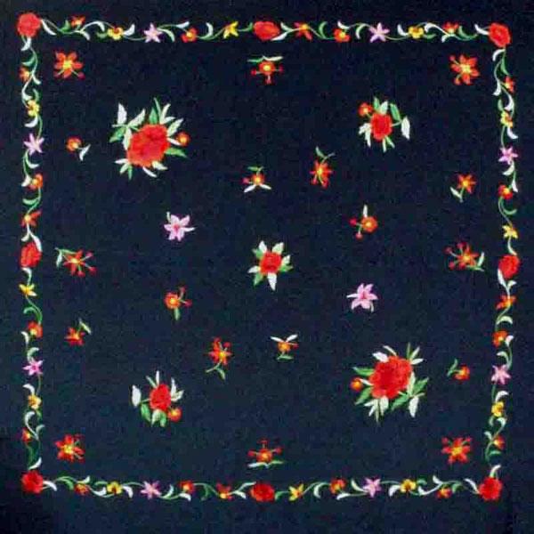 Manila embroidered shawl ref. 154400