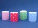 Candle with Polka Dots