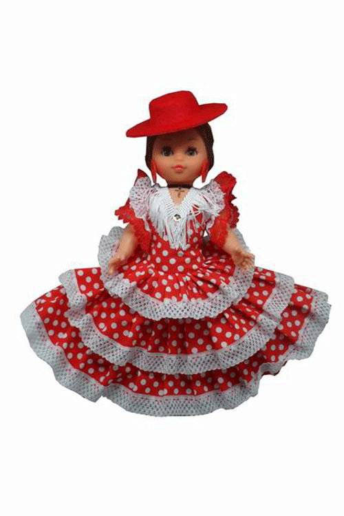 Spain Dolls with Red with White Dots and Red Hat. 35cm
