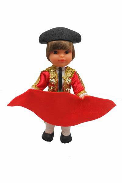 Bullfighter with Red Cape and Cap. 25 cm