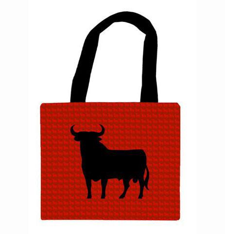 バッグ 布製 闘牛 Osborne レッド&ブラック スモールサイズ