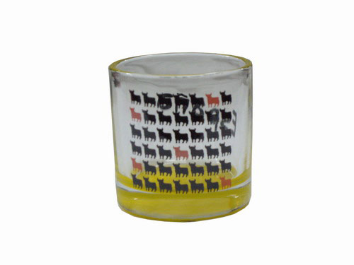 Shot glasses Osborne Bull Yellow short. Mini bulls. (Pack 6)