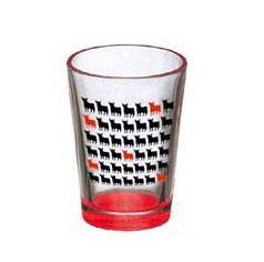 Osborne Bull Shot glass High and red. Mini bulls. (Pack 6)