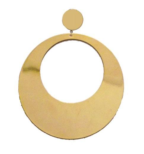 Big Golden Hoop Earrings. 10cm X 8cm. ref. 40170