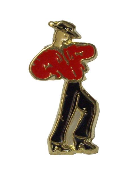 Flamenco dancer pin