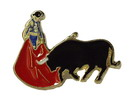 Bull and Bullfighter Pin 1.90€ #50083P0002