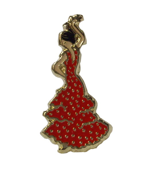 Flamenca dancer pin