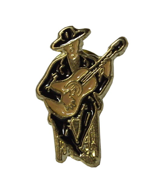 Flamenco guitarist pin