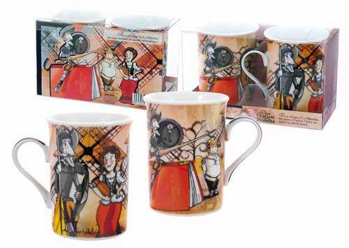 Set 2 Tasses – Mug Étui Quijote