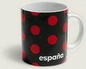 Mug with red polka dots