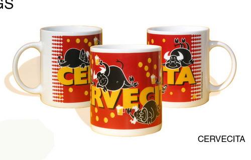 Taza Cervecita Rojo 5.95€ #505460005