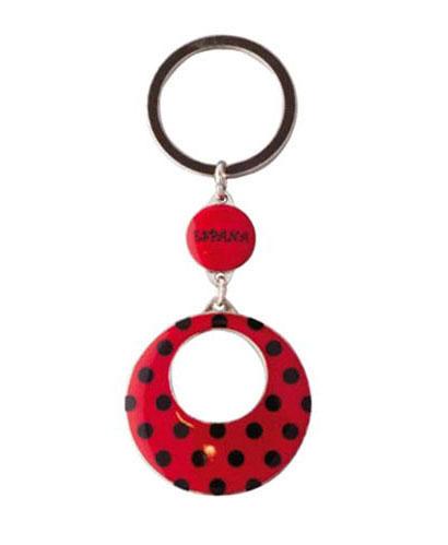 Porte clés boucle d'oreille rouge
