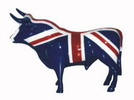 置き物 闘牛 イギリス国旗柄