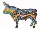 Taureau mosaique trencadis de Gaudi - Aimant