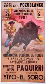 Bull-fighting Poster. Mitos. Paquirri 10.100€ 50491CCN174