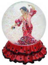 ボール型置き物 フラメンコバイラオーラ ドレス柄(レッド&ブラック水玉) 大サイズ 8.40€ 50579BOLA22057